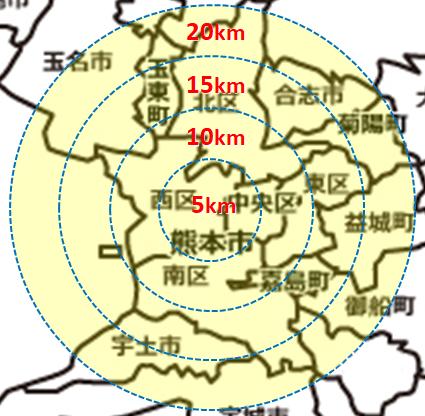 画像:熊本県の地図